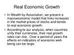 real economic growth