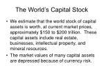the world s capital stock