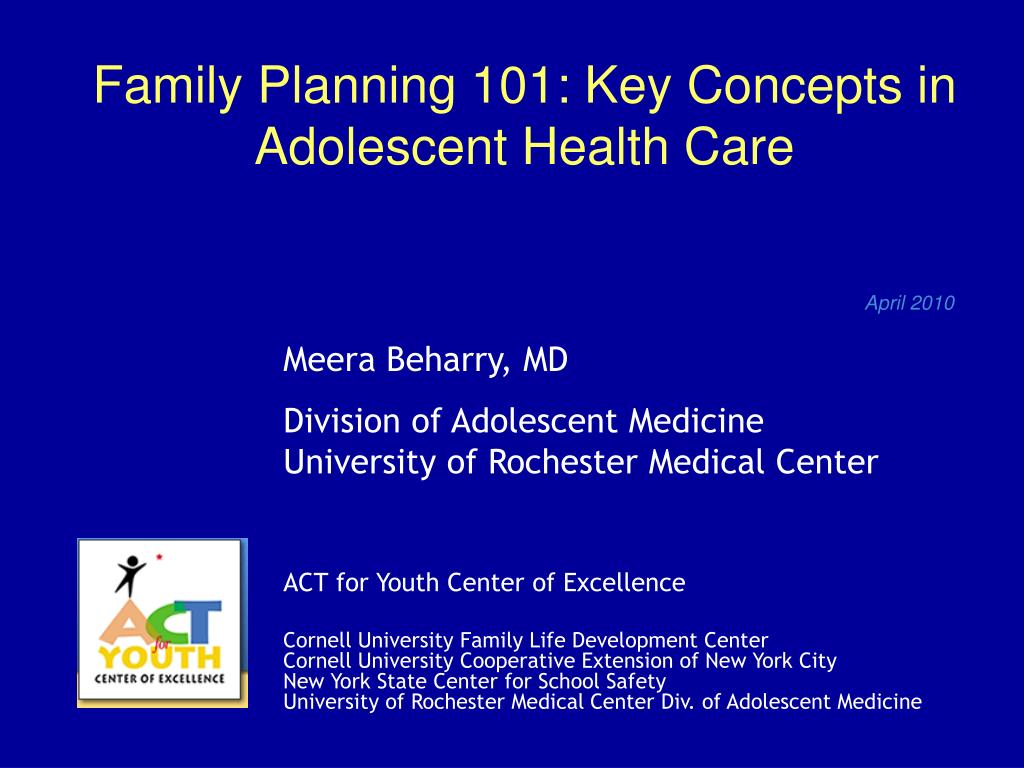 family planning 101 key concepts in adolescent health care l.