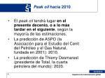 peak oil hacia 2010