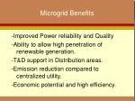microgrid benefits