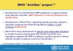 who achilles project action plan demonstration project