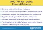 who achilles project expected outcomes40