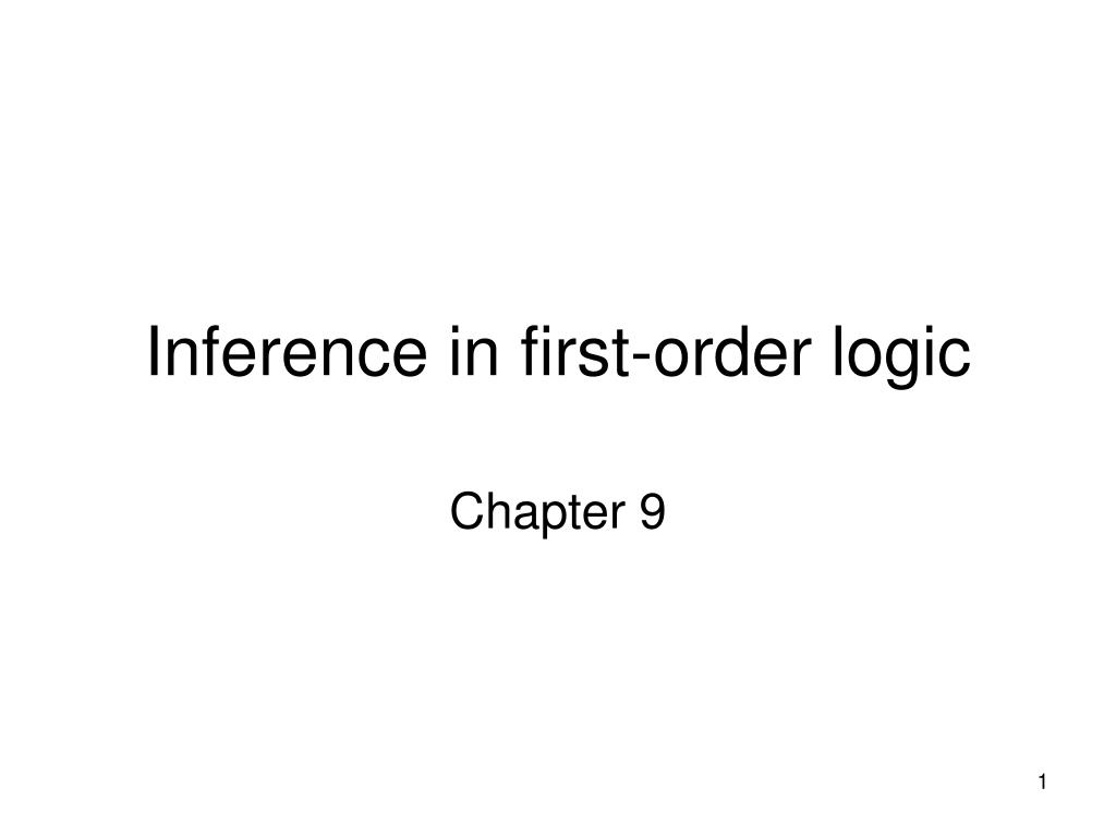 inference in first order logic l.
