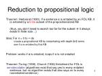 reduction to propositional logic