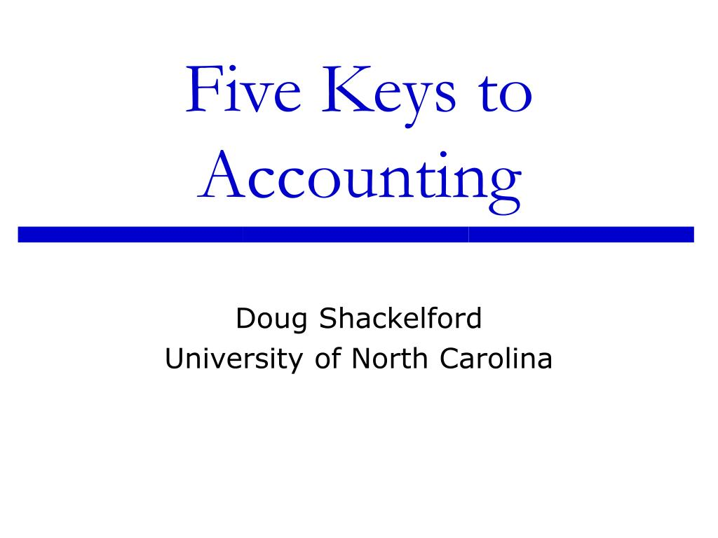 five keys to accounting l.