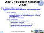 chap1 7 attitudinal dimensions of culture