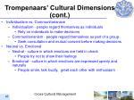 trompenaars cultural dimensions cont