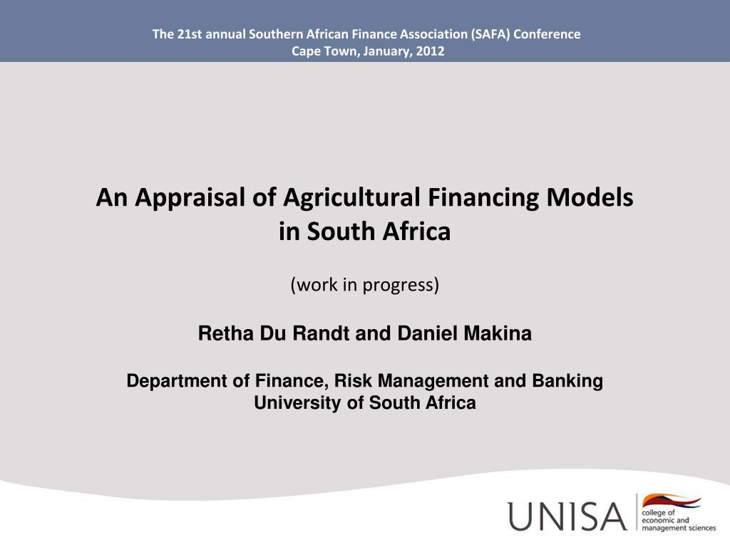 the 21st annual southern african finance association safa conference cape town january 2012 l.