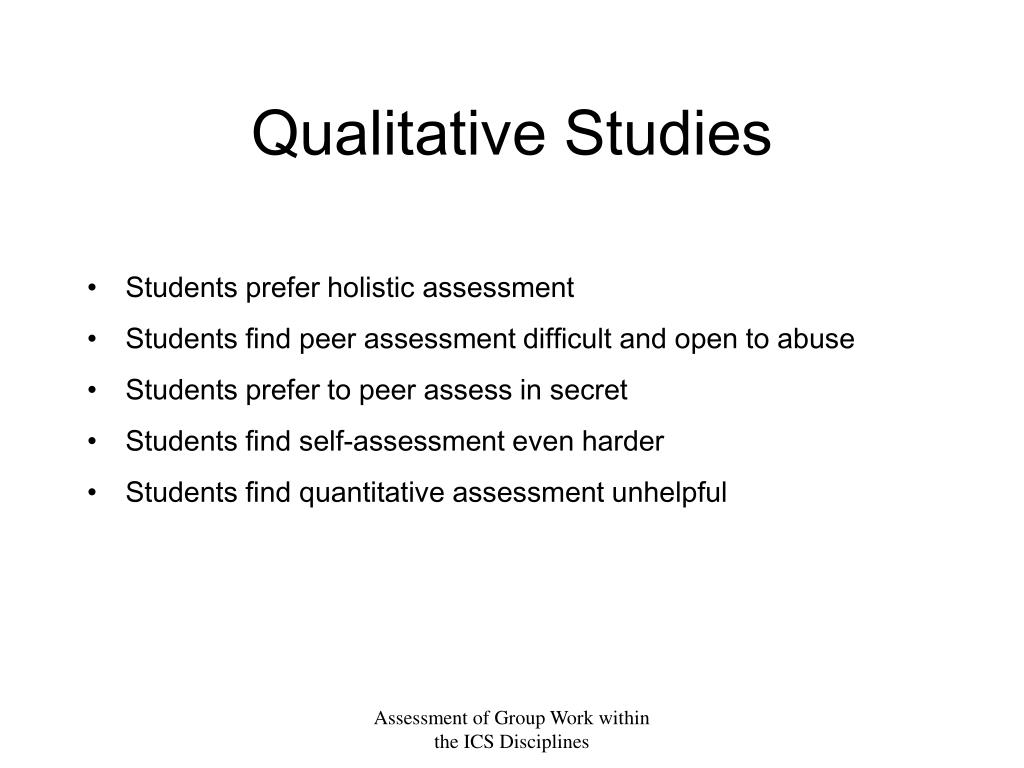 PPT - The role of peer and self assessment in the assessment