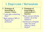 1 empiricism rationalism