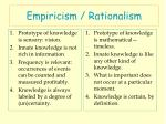 empiricism rationalism