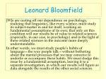 leonard bloomfield