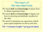 the heart of the new empiricism