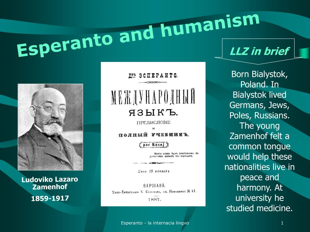 esperanto and humanism l.