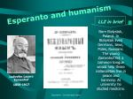 esperanto and humanism