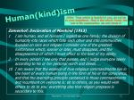 human kind ism