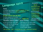 language spirit