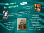 planned languages