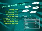 simple verb forms
