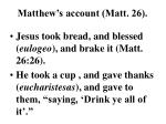 matthew s account matt 26