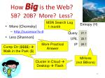 how big is the web 5b 20b more less10
