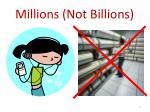 millions not billions