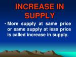 increase in supply43