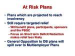 at risk plans