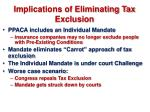 implications of eliminating tax exclusion