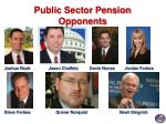 public sector pension opponents32