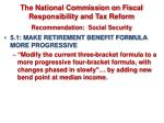 the national commission on fiscal responsibility and tax reform recommendation social security