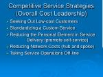competitive service strategies overall cost leadership