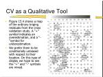 cv as a qualitative tool