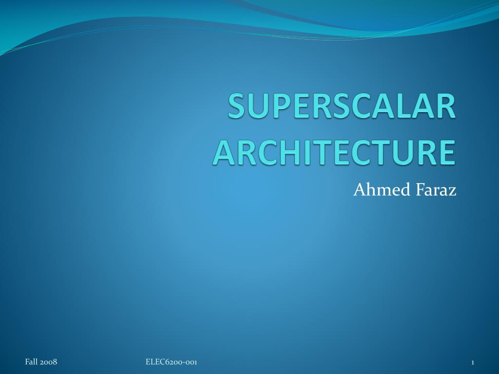 superscalar architecture l.