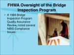 fhwa oversight of the bridge inspection program