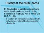 history of the nbis cont7