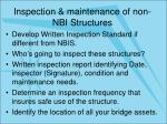 inspection maintenance of non nbi structures