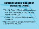 national bridge inspection standards nbis