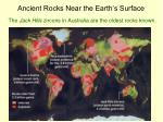 ancient rocks near the earth s surface