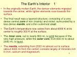 the earth s interior 1