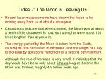 tides 7 the moon is leaving us