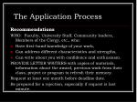 the application process15
