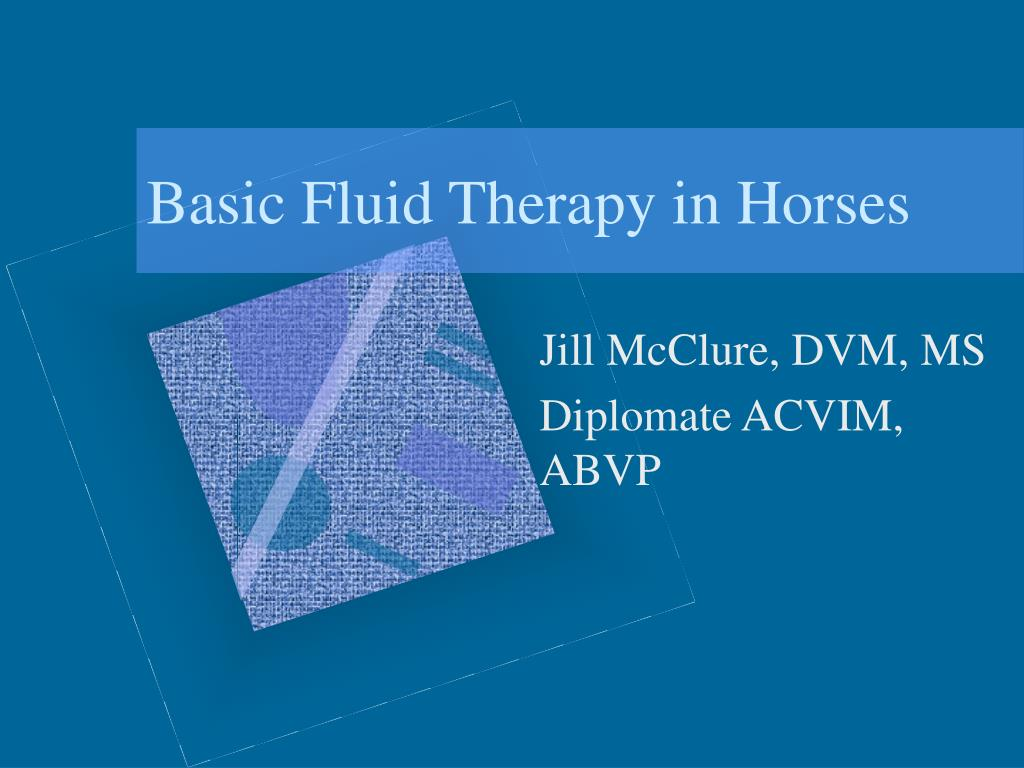 basic fluid therapy in horses l.