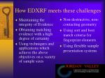 how edxrf meets these challenges