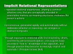 implicit relational representations