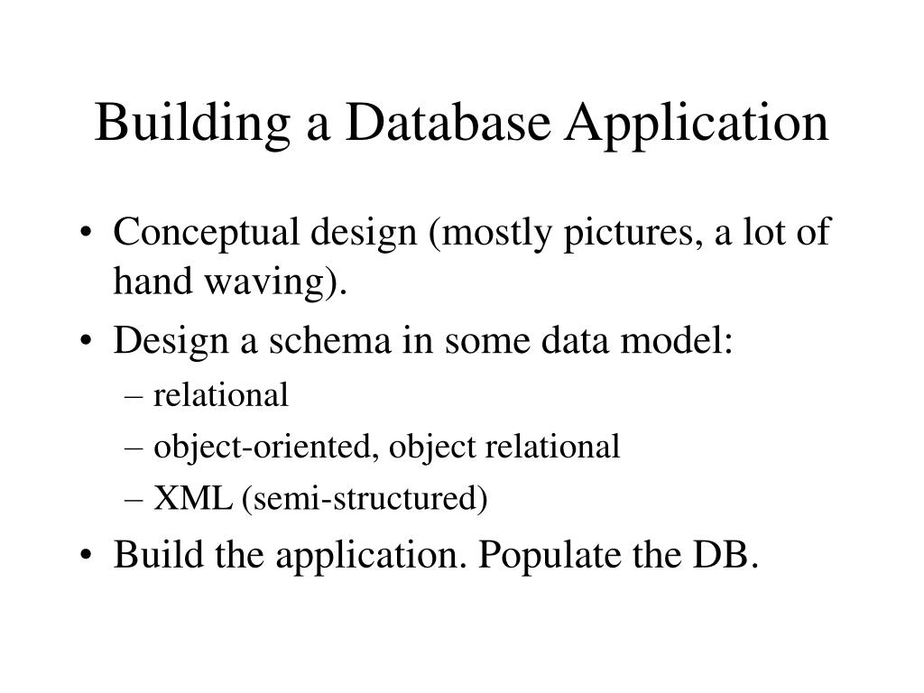 building a database application l.