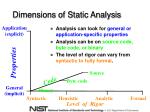 dimensions of static analysis