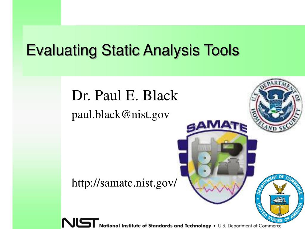 evaluating static analysis tools l.