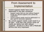 from assessment to implementation13